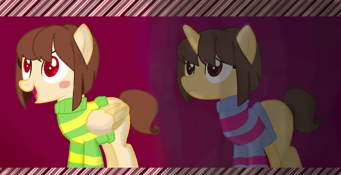 Frisk and Chara by AnimeLovingGirl1209