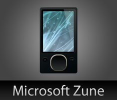 Microsoft Zune with PSD by wafflez-art