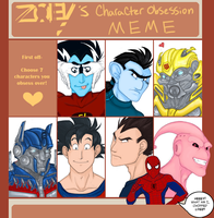 Character Obsession - The Selection by Vee-Freak