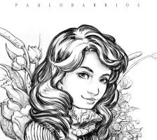 girls pencils sketch by paulobarrios