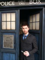 Tenth Doctor Cosplay and The TARDIS by ANTHONYGREY