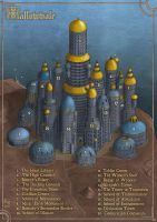 Wizard Town of Hallowvale by Sapiento