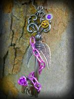 Lavender and Gunmetal Fantasy Key 2 by ArtByStarlaMoore