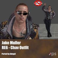 Jake Muller RE6 Chav Outfit by Adngel