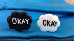 The fault in our stars okay okay bff/couple rings by Saloscraftshop