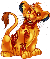 Undead Simba From the Lion King by Dragoart