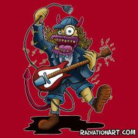 Guitar Monster T-Shirt by RossRadiation