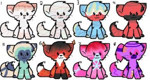 8 new free and cheap kitty adoptables ! [OPEN] by Xingyaru