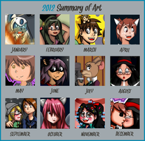 My 2012 Summary of Art and Stuff by Warped-Dragonfly