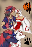 Okami :AmmyxOki: by wolfpainter