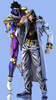 Jotaro Kujo and Star Platinum: The World by Yare-Yare-Dong