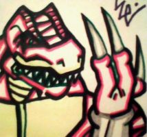 Riptor Flashes His Weapons Post-It by dark-es-will