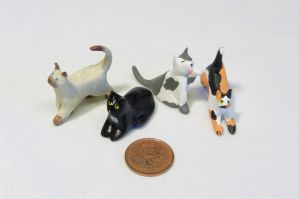 Mini Sculpey Cats by ChloeMcGhoe