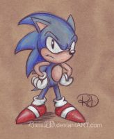 Classic Styled Sonic by ArtByRiana