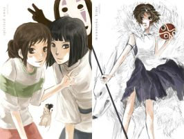 Spirited Away+Mononoke Hime by hakuku