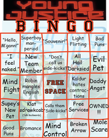 Young Justice Bingo Card by RenkonNairu