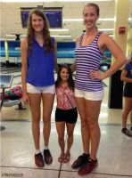 Tall volleyball players compare by lowerrider