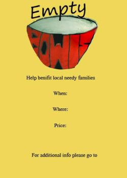 Empty Bowls Event Rough Poster by Scoundrel-Art