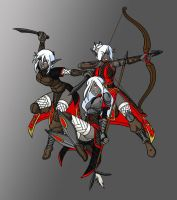 Drow trio by Caocaothedeciever by Shabazik