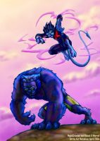NightCrawler and Beast by Kat-Nicholson