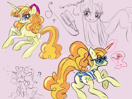 Tropical Dream Character Sketches by starfox365