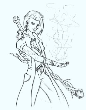 LineArt - Mechanic / Mage by AlexJustOut