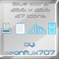 blue icons by aeonflux707