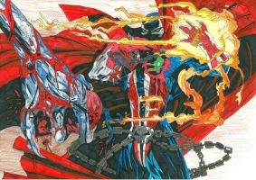 Spawn Vs The Violator by FlippingCat