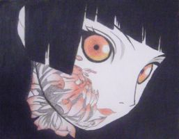 Enma Ai - Jigoku Shojo (Hell Girl) With Crayons by valdo4