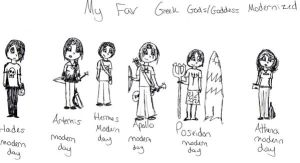 Fav Greek gods and goddesses