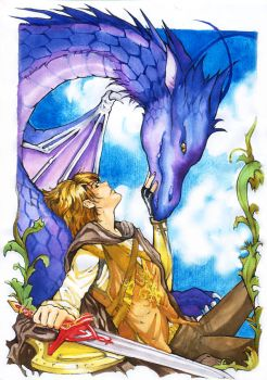 Eragorn and Saphira by Archie-The-RedCat