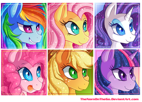 Mane 6 Icons by TheNornOnTheGo