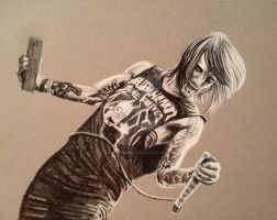 Charcoal Drawing of Beau Bokan (blessthefall) by ThrowYourRoses