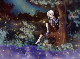Glowing night by Nefis