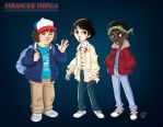 Dustin, Mike and Lucas by roby-boh