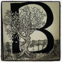 The Letter B with Laufey by silverolivia