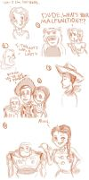 Toy Story Sketchdump by hpmoofrog