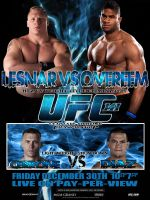 UFC 141 poster by Raikoh101
