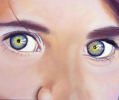 Portrait of Sharbat Gula's Eyes. by Romeoartist