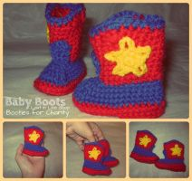 Lil Buckaroo Baby Boots by the-carolyn-michelle