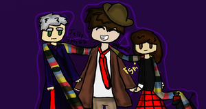 4th Doctor Clara and 12 Doctor day 4 by Fgpinky123