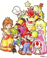 mario characters by dalliz