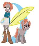 Ash Quill  Equestria girl and pony by NinjaSoulMasamune