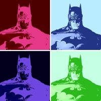 Batman 4 Panel Pop Art by TheGreatDevin