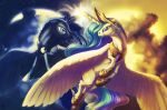 MLP: Eternal dance of dark and light by T0xicEye