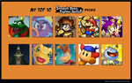 My Top 10 Smash Bros Fighter Ballot picks by scott910