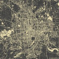 Minneapolis by MapMapMaps