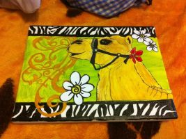 Mixed Media Camel - Daisy by Sheori22