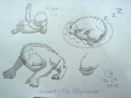 Wuamutt The Vulpimancer sketch by Bou-Ro
