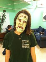 Water-logged zombie face make-up by 8thAndOliver
